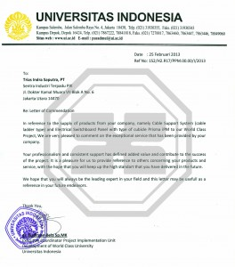 Indonesia University Testimonial